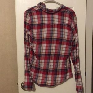 Hollister Tops - Red, white, blue flannel